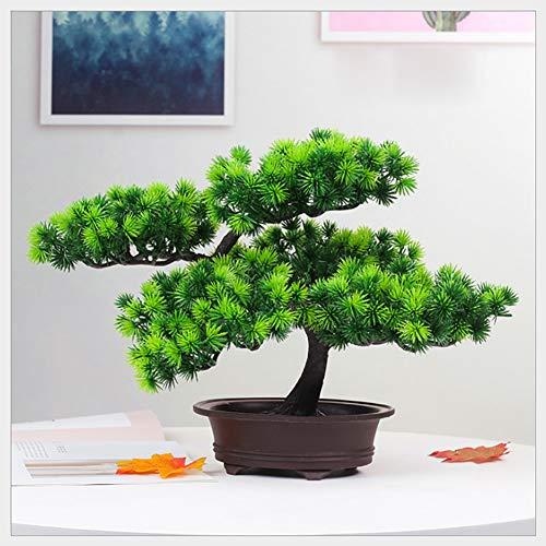 jianbo Kunstpflanze Pflanze,Japanischer Feng Shui Pinien ,Feng Shui Lucky Deko,Kunstbaum ,Höhe ca. 20 cm ,GrüN, #39 - 7