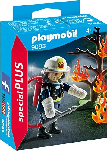 Playmobil Playmobil Playmobil Pompier avec Arbre en feu, 9093 b66583