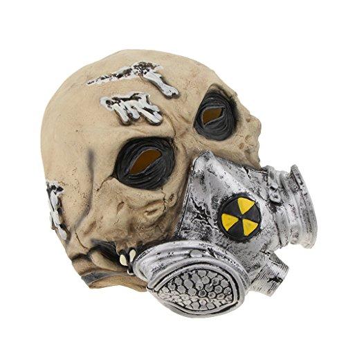 Homyl Halloween Horrormaske Zombiemaske Clown Latexmaske Hexe Maske für Damen und Herren, Kostümstütze Halloween Props zum Kostümparty Cosplay Party Spukhäuser und Bar - Biochemie