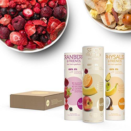 rüchte & Superfoods für leckere Früchte-Smoothies und gesunde Snacks zwischendurch | BUAH® HOT-SMOOTHIE-GESCHENKE-KORB | 100% Frucht | 0% Zusätze | Healthy Snacks (Gesunde Halloween Snacks)