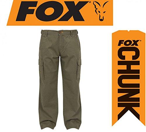 Fox Chunk Heavy Twill Cargo Pants Hose Angelhose Khaki, Anglerhose, Outdoorhose, braun, Größe:XXL - Braun Twill-hose