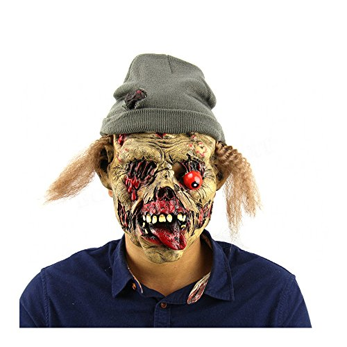 Halloween Terror Zombie Maske Grab Keeper Hexe Monster Cosplay Maske Übelkeit Turtleneck Wacky Maske