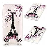 KSHOP Case Cover TPU Silikon Hülle für Huawei Y625 Taschen Schale Schutzhülle Etui dünn kratzfeste stoßdämpfende - Eiffelturm Pfirsichrosa rosa