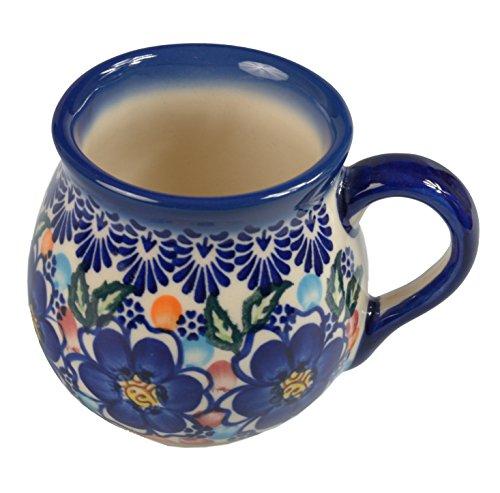 Bcv Classic Boleslawiec, Polish Pottery Hand Painted Ceramic Mug Barrel 523-u-097