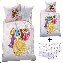 Princesses Dream Big - Juego de cama de 3 piezas, 100% algodón, diseño