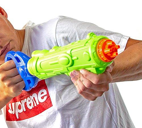 NICK and BEN MEGA XXL Wasser-Gewehr Pistole 45cm Spritz-Waffe Kinder Sommer Spielzeug Water-Blaster Galaxie-Waffe -