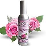 Rosenwasser 100 % reines und naturreines 75ml, Rose Damaszener Bulgarisches Hydrolat, best toner Spray für Haut, Haare, Gesicht, Gesichtswasser zu alle hauttypen, gut für Körperpflege, Beauty, Wellness, Kosmetik, ohne Alkohol, Rosewater von Aromatika