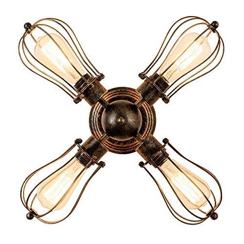 Antique Retro Deckenleuchte, Metall dekorative Lampe, Schlafzimmer Wohnzimmer Tischleuchte Licht, kann als Wandleuchte verwendet werden -Kronleuchter (Color : Bronze) -
