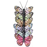 Image of Artemio 6 Butterflies with Metal Wire 5cm, Multicolour - Comparsion Tool