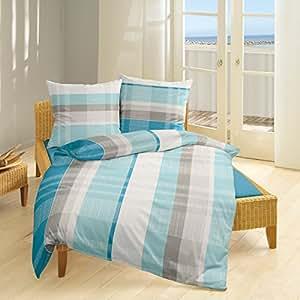 Bierbaum Single Jersey Bettwäsche 3017 Aqua 1 Bettbezug