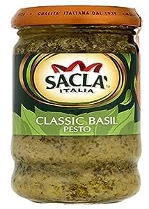Sacla' Classic Basil Pesto 190 g (Pack of 6)