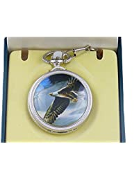 Bolsillo con tapa y diseño de salto de cuarzo + caja de regalo decorativo águila