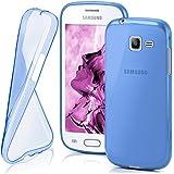 Housse de protection OneFlow pour Samsung Galaxy Trend Lite housse silicone Case en TPU de 0,7mm | Accessoires Cover pour la protection du téléphone portable | Housse téléphone portable Bumper pochette transparente en SKY-BLUE