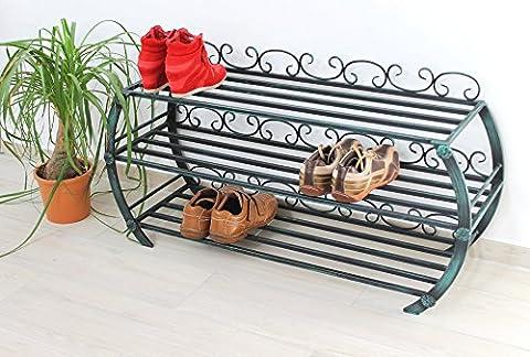 DanDiBo Etagère à chaussures BO Etagère 103 cm Armoire à chaussures en métal Rangement à chaussures 93544 métal Fer forgé