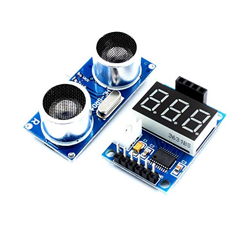 DIY Kits für Arduino, LDTR-WG0171 Ultraschall-Distanzmessung-Steuerplatine HC-SR04 Test Board-Entfernungsmesser Digitalanzeige Serieller Ausgang Arduino Zubehör