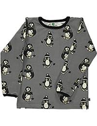 e531b7221af3ba Smafolk Long Sleeve Skiing Penguin T-Shirt - Steel Grey