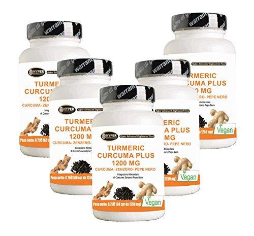 Turmeric Curcuma Curcumin 1000mg + Ingwer + Piperin - Fat Burner | Kapsel hohe Dosis | Trocken Curcumaextrakt bis 95% titriert und schwarzer Pfeffer auf 95% titriert | Curcumin - hohe Bioverfügbarkeit | 300 Tabletten (Hilfe Bauchspeicheldrüse)