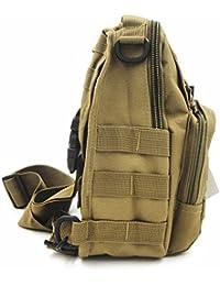 tekon Correa de Tactical Assault Pequeño Ligero Sling Molle Mochila Militar Deporte Pack Bolsa de hombro Pecho Rover, canela