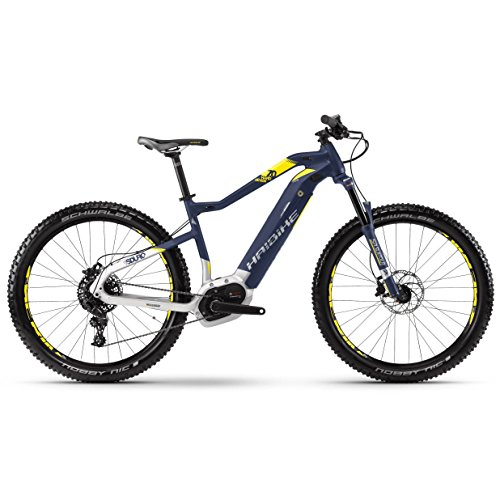 Haibike Sduro hardseven 7.0E-Bike 500WH S de Mountain Bike Azul/Citron/Plata Mate, Color Blau/Citron/Silber Matt, tamaño 44