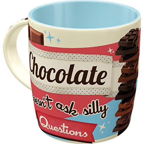 Nostalgic-Art 43016 Say it 50's - Chocolate Doesn't Ask | Retro Tasse mit Sprüchen | Kaffee-Becher | Geschenk-Tasse | Vintage