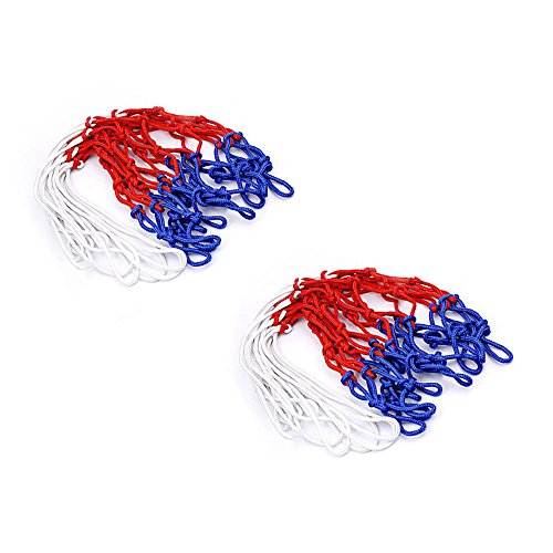 Wdyjmall 212Schlaufen 48cm lang Nylon Polypropylen Standard Basketballkorb Net Blau Rot Weiß