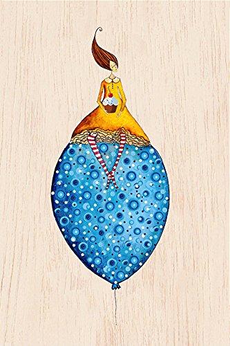 COZYWOOD® HOLZKARTE - Postkarte | Grußkarte | Jede Karte individuell und einzigartig | Glückwunschkarte | Geburtstagskarte | Hochzeitskarte | Diverse Motive | FSC Zertifiziert | Ökologisch nachhaltig | Geburt, # Cozywood:Birthday Balloon