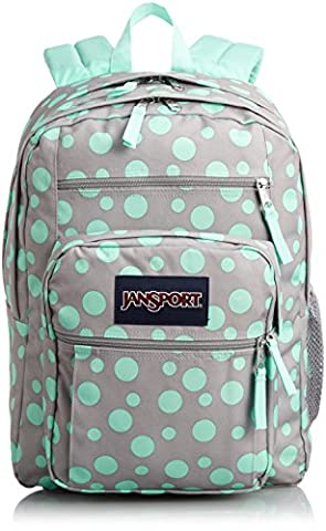 JanSport Big Student Classics Series Backpack - Grey Rabbit Sylvia Dots