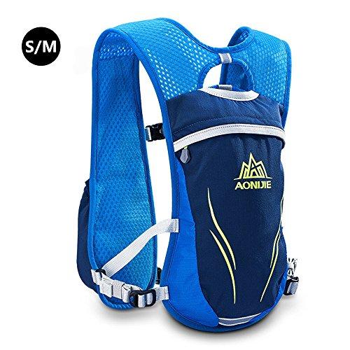 Imagen de aonijie unisex 5.5l running race hidratación chaleco hidratación pack  azul  alternativa