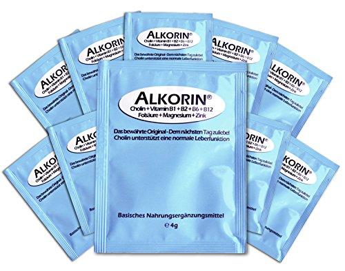 ALKORIN® dem nächsten Tag zuliebe - Unterstützt die normale Leberfunktion mit Cholin - 10 Anwendungen - Mit Magnesium, Zink, Folat und Vitamin B1 + B2 + B3 + B5 + B6 + B12