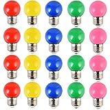 20PCS 2W E27 ampoule couleur, ampoule LED couleur unique, 200LM Lampe de Noël 220V...