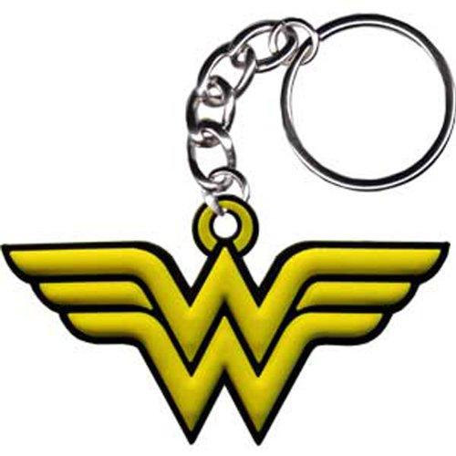 WONDER WOMAN DONNA Logo Rubber gomma Keychians, Officially Licensed DC Comic Superhero Originals Artwork, High Quality Ruber KEYCHAIN PORTACHIAVI
