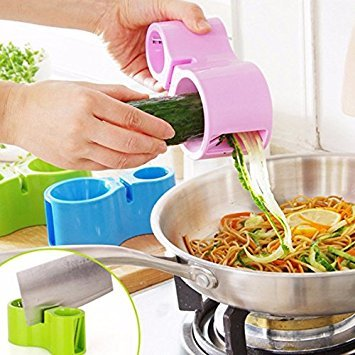 Tradico® 2 Blades Vegetable Spiral Slicer Vegetable Peeler Cutter Cucumber Carrot Veggie Julienne Tool