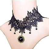 Conjunto de Collar Cexin y pulsera Anillo Steampunk f.e.m, dember de relojes colgantes del Collar de gargantilla de la borla - CeXin - amazon.es