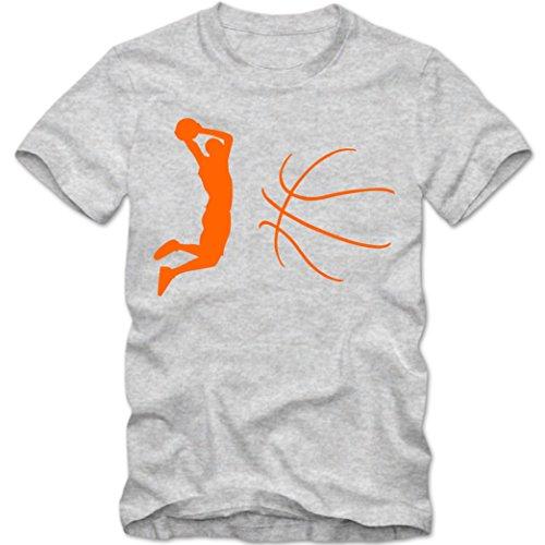 Basketball T-Shirt |NBA | BBL |Streetball | Sportshirt © Shirt Happenz graumeliert (grey melange) 01