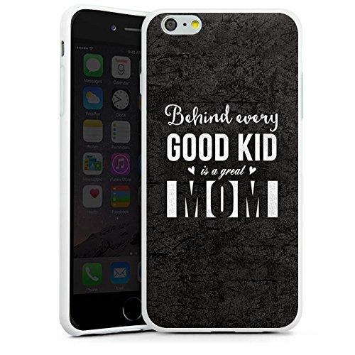 Apple iPhone X Silikon Hülle Case Schutzhülle spruch mom muttertag Silikon Case weiß