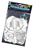 folia 23249 - Kindermasken Weltraum, aus Pappe, Motive sortiert, 6 Stück, weiß, zum selbst Bemalen und Gestalten, für Kinder, Jungen und Mädchen, ideal für Kindergeburtstage und Partys