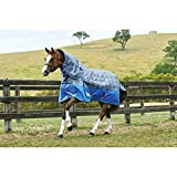 Weatherbeeta Comfitec Premier Trio - Coperta medio peso per cavalli con collo staccabile (5 ft 9-175 cm) (Grigio)