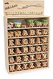 """Buchstabenzug """"A"""" - """"L"""" aus Holz, zum Spielen, Dekorieren und Lernen, ein ideales Geschenk für viele Anlässe, erweiterbar mit allen Buchstaben des Alphabet"""