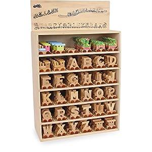 """Buchstabenzug""""A"""" -""""L"""" aus Holz, zum Spielen, Dekorieren und Lernen, ein ideales Geschenk für viele Anlässe, erweiterbar mit allen Buchstaben des A"""