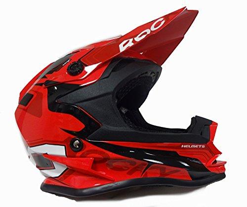 MOTOCROSS KINDERHELME 3GO XK-188 ROCKY QUAD MX STURZHELM SCHUTZHELM HELM FÜR MOTORRAD KINDERQUAD CROSS BIKE HELME NEU MODELL 2017 NEU MIT BRILLE ROT - Rot - L