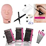 Training Mannequin Head Model False Eyelashes Extensions Practice Tool Set for Cosmetology Makeup