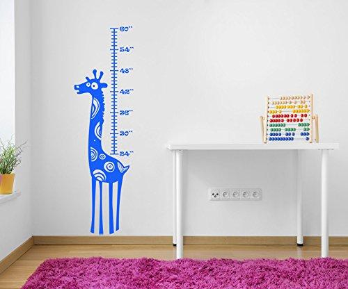 Designdivil Wall Art Hoch Funky Giraffe Höhe & Wachstum Diagramm. Qualität Matt Vinyl Wand Aufkleber Aufkleber. Farbe Möglichkeiten. blau (Chart Wandtattoo Wachstum Giraffe)