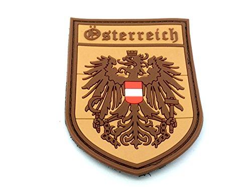 Österreich Wappen Österreichische Crest Hellbraun Airsoft Klettverschluss PVC-Patch