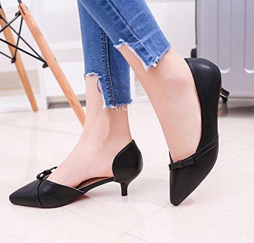 Baotou wies Tasche mit weiblichen Sandalen gut mit den Bogen Sandalen weiblichen Sommer Sandalen und Pantoffeln Black