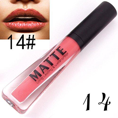Gaddrt Langlebiger Lippenstift Wasserdichte Matte Metall Lip Gloss Liquid Lip Liner Kosmetik (N)