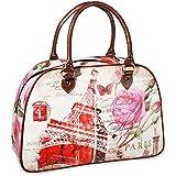 Handtasche Vintage Look Paris Henkeltasche Henkel Tasche PVC - 42 x 38 cm