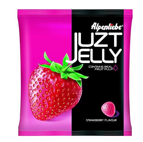 Alpenliebe Juzt Jelly, Strawberry, 17 Count