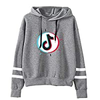 Men Women Long Sleeve Pullover Hoodie, Loose Sweatshirt Plus Size Sweater, Unisex 3D Printed Hooded Couple Wear,Gray,S