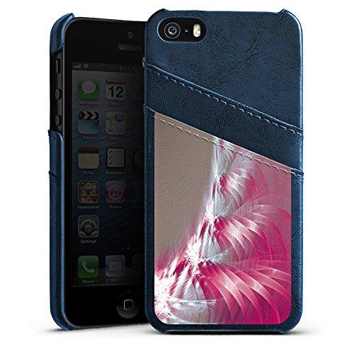 Apple iPhone 5s Housse Étui Protection Coque Motif Motif Lumière Étui en cuir bleu marine