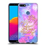 Head Case Designs Umarmen Einhoerner Und Galaxie Soft Gel Hülle für Huawei Honor 7C / Enjoy 8